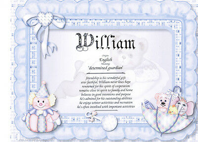 First Name Meaning - choose from over 150,000 names, choose the design FREE POST