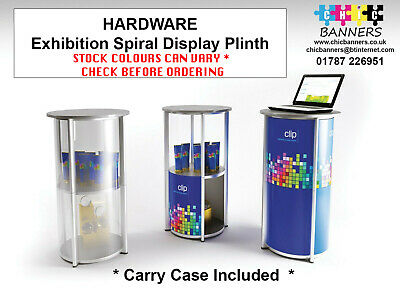 Spiral Tower Plinth Display Stand Exhibition Display Shelving Case Column Round