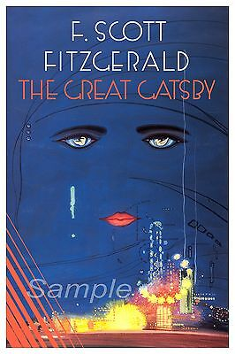 GG02 VINTAGE THE GREAT GATSBY by F SCOTT FITZGERALD POSTER A3 PRINT