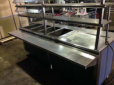 4 Well Pizza Bread Warmer Commercial Steam Table With