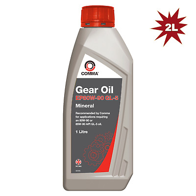 Comma EP80W-90 GL5 Gear Oil - 2 Litre. For Synchromesh & manual gearboxes