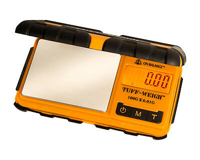 Tuff Weigh Digital Scales Pocket 100g x 0.01g JCB Style Rugged Rubber Table Top