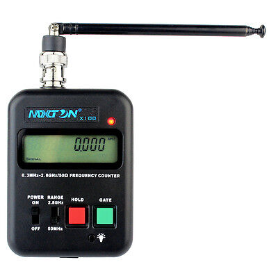 MAXTON Wireless Handheld Frequency Counter 0.3MHz-2.8GHz LCD for Two-way Radio