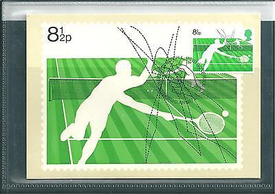 Gb - Phq Cards -1977 - Racket Sports - Front - Fdi/shs - Comp. Set Used