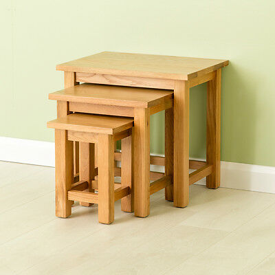 Carne Oak Nest of Tables / High Quality Oak / Hand Crafted Solid Oak Side Tables