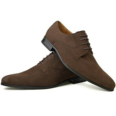 Mens New Brown Faux Leather Designer Fashion Smart Dress Quality Casual Shoes