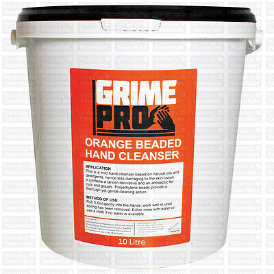 GrimePro Orange Hand Cleanser 10L Bucket Powerful Formula Cleaning Oil