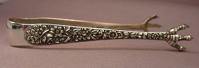 Repousse-Kirk Sterling Sugar Tongs-4 Inch