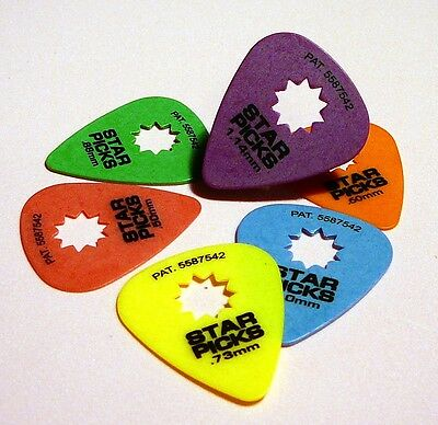 6 X  Everly Star Picks Guitar Picks / Plectrums (6 Picks)