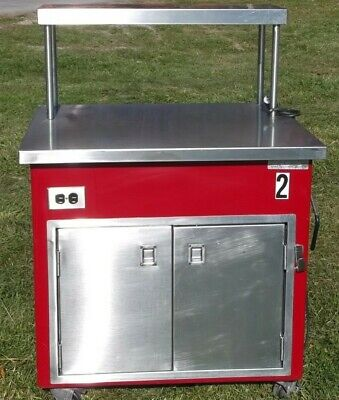 Delfield Stainless Buffet Seving Station w/Insulated Stainless Storage Cabinet