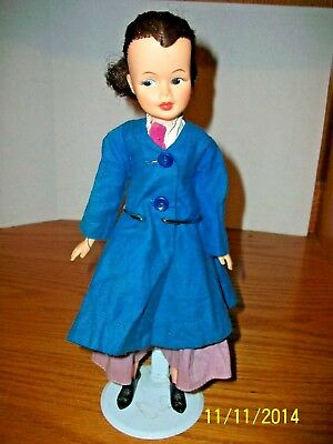 Vintage 1963 12 inch Mary Poppins Doll in Original Outfit by Horseman