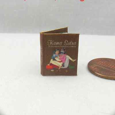 KAMA SUTRA HANDBOOK Illustrated Miniature Book Dollhouse 1:12 Scale Readable