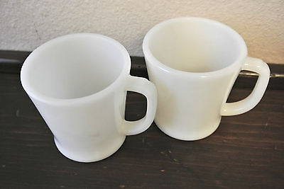 Vintage FireKing Ware Oven White Ivory Set of 2 Fire King