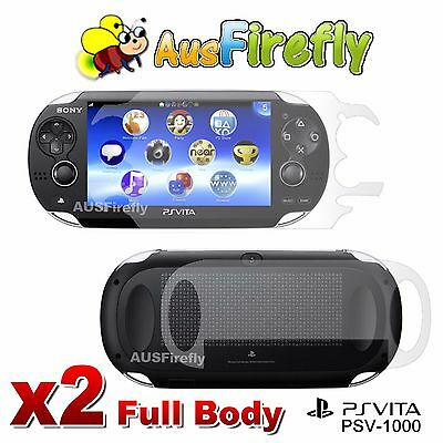 2x PSVITA Front and Back Full Body Screen Protector for PS Vita PSV PCH-1000