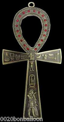 "Ankh 6.8"" brass egyptian wall hanging hand made engraved key of life Egypt 213"