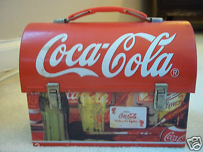 Coca-Cola Lunchbox. Classic Collectible Nostalgia. Old-Time Design. Metal Tin