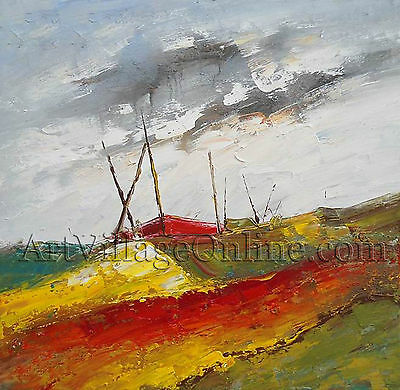Modern Huge Wall Art 100% hand-painted oil painting on canvas-Abstract Landscape