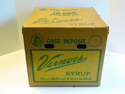 Very Rare Vernors Ginger Ale Syrup Box / Case, Vintage!