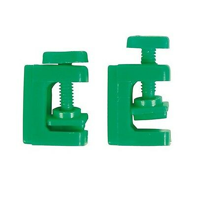 Set of 2 Tube Clamps Green Airline Air Regulator Clamp x2
