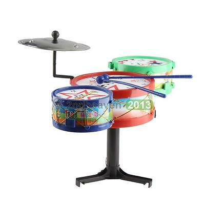 New Children Kids Musical Instruments Toy Colorful Plastic Drum Drum Kit Set