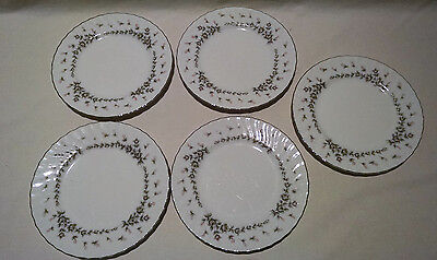 "STYLE HOUSE FINE CHINA PICARDY LOT OF 5 DESSERT SALAD PLATES 6 3/4"" JAPAN"