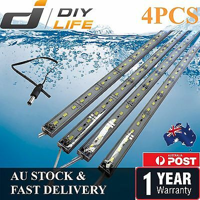 4X12V Waterproof Cool White 5630 Led Strip Lights Bars Camping Caravan Boat Car