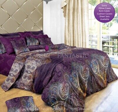 ASTER Duvet/Doona/Quilt Cover Set Double/Queen/King/Super King Size Bed New