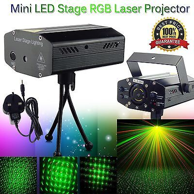 New Mini LED Stage R&G Laser Projector Lighting Disco Party DJ Club Light UK