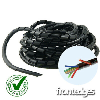 Spiral Cable Wrap/Tidy/Hide/CCTV PC,TV,Home Cinema,Wire Management