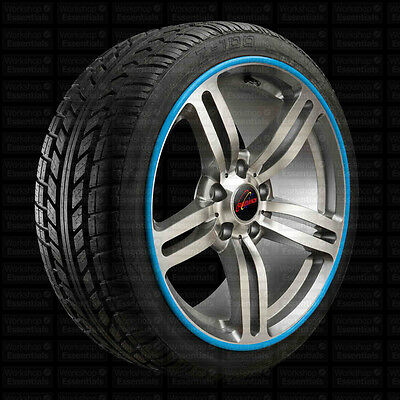 """Rimbands Alloy Wheel Rim Protectors 17"""" Inch Blue All Condition Protect"""
