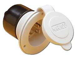 Marinco 200BBIW-WVR Marinco On-Board Charger Inlet - 20 Amp - White