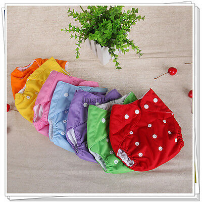 4x pcs Reusable modern Baby Cloth Nappies Diapers Adjustable bulk  nappy
