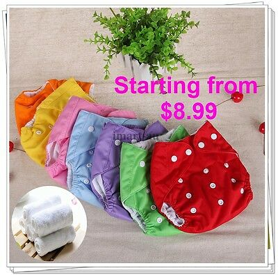 Bulk Reusable modern Baby Cloth Nappies Diapers Adjustable bulk nappy