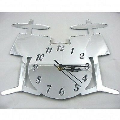 Drum Kit Mirrored Clock