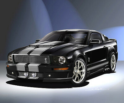Ford Mustang Cervini 2007 fine art poster by artist Danny Whitfield