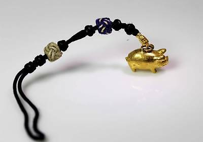 22K Gold Pig Charm Chinese Zodiac Year of the Pig