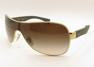 Ray Ban RB 3471 001/13 Gold Brown Gradient New Guaranteed Authentic