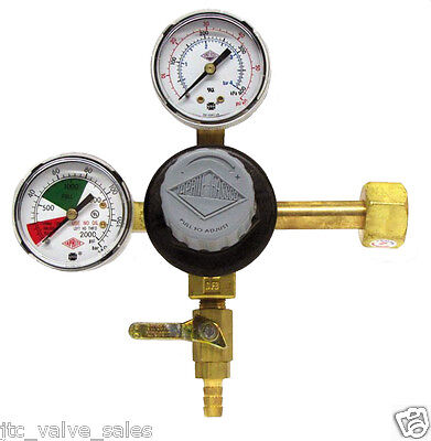 Taprite CO2 E-T742 Commercial HIGH Dual Gauge Primary Regulator DRAFT BEER/SODA