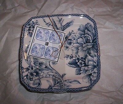 222 Fifth Blue Adelaide Party Plates NWT S/4