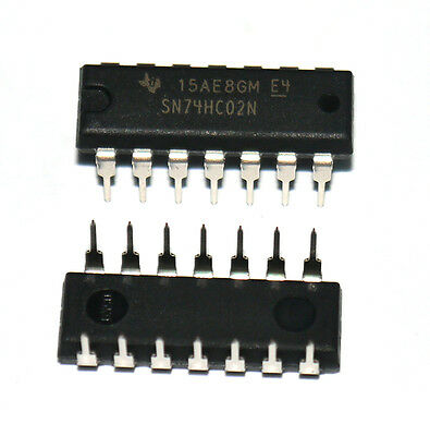 10*New Quadruple 2-Input NOR Gates Logic IC 74HC02 7402 DIP-14 Better Quality K2