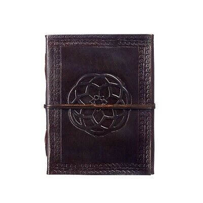 Fair Trade Handmade Indra Celtic knot Leather Journal Notebook Diary
