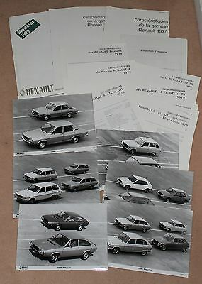 (36A) Rare Dossier Presse Gamme Renault / Alpine 1979