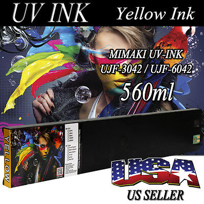 NEW MIMAKI UV-INK ONLY FOR UJF-3042 / UJF-6042 560ml Yellow color Cartridge