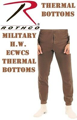 Brown Military ECWCS Cold Weather Thermal Underwear Bottoms H.W. Rothco 6248