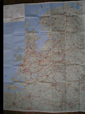 Vintage 1976 Map Holland, Travel Map, With City Index, Printed In Switzerland