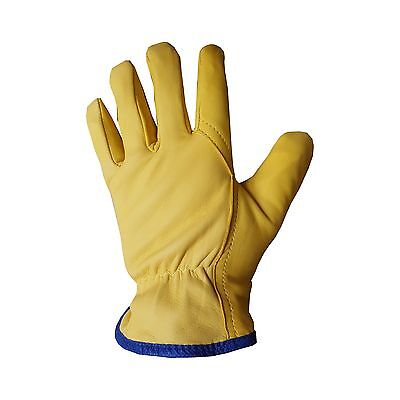 YBS Driver Gloves Fleece Lined Leather Lorry Drivers Work Gloves Premium Quality