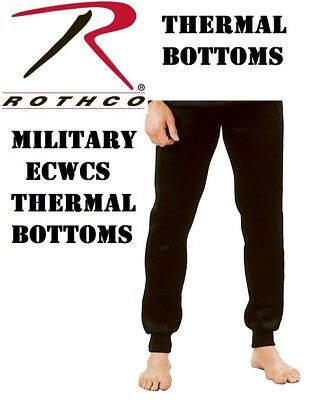 Black Military ECWCS Cold Weather Thermal Underwear Bottoms H.W. Rothco 6245