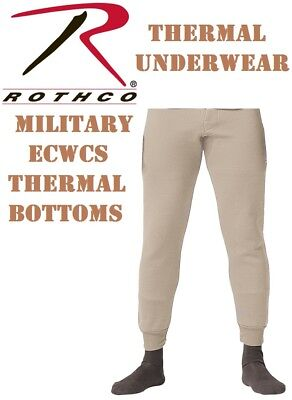 Desert Military ECWCS Cold Weather Thermal Underwear Bottoms H.W. Rothco 5225