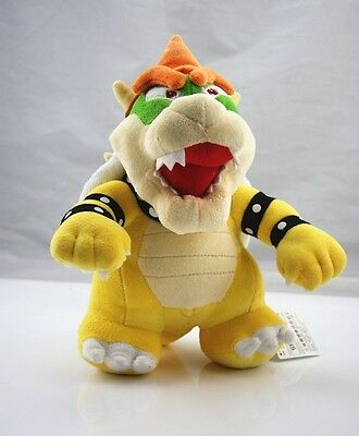 "Super Mario 10"" Standing King Bowser Koopa Plush Toy Stuffed Animal Great Gift"