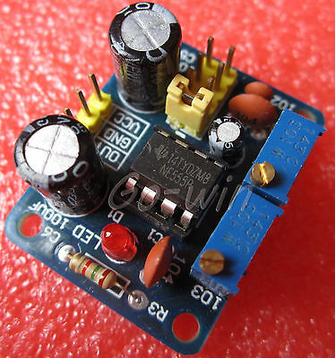 2PCS NE555 Square Wave Duty Cycle and Frequency Adjustable Module M54